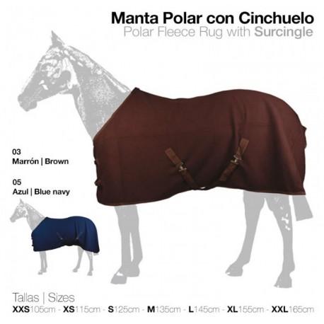 MANTA POLAR CON CINCHUELO