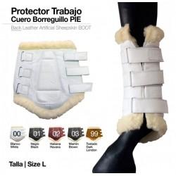 PROTECTOR TRABAJO CUERO BORREGUILLO -PIE-