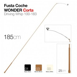 FUSTA COCHE W-CORTA 100-183 NG.  (185CM)