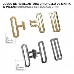 JUEGO HEBILLAS PARA CINCHUELO DE MANTA