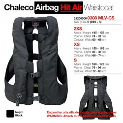 CHALECO AIRBAG. HIT AIR MLV-CS TALLA: S (2XS-S)