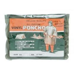 PONCHO PVC IMPERMEABLE VERDE